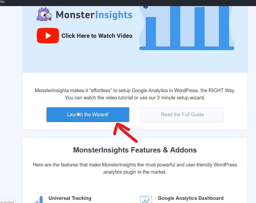 Launch Monster Insight Wizard