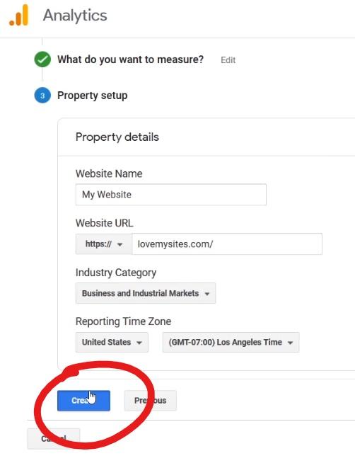 Property in Google Analytics