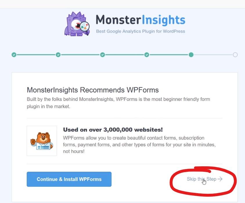 Install Monster Insights