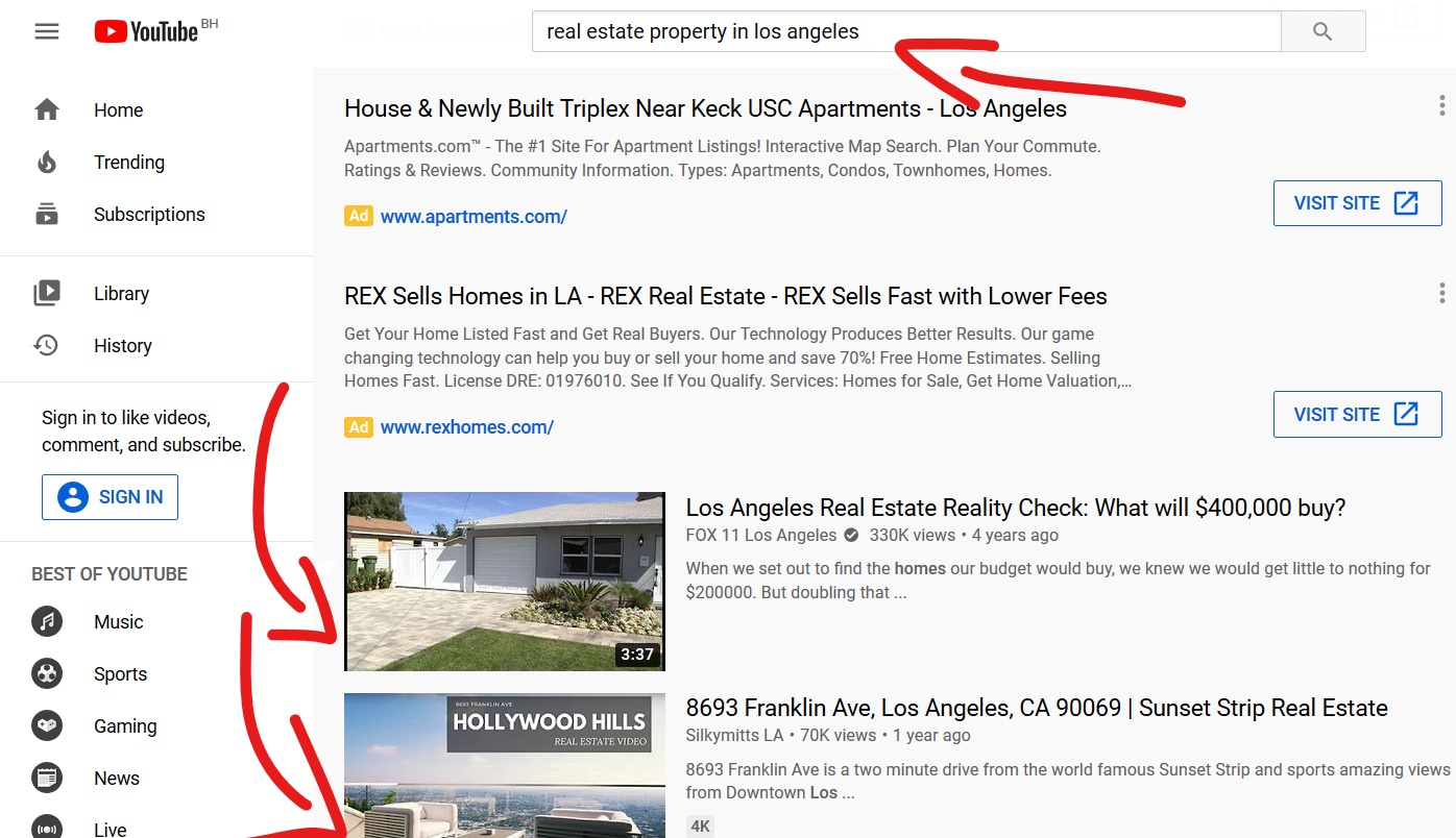 Real Estate YouTube Marketing