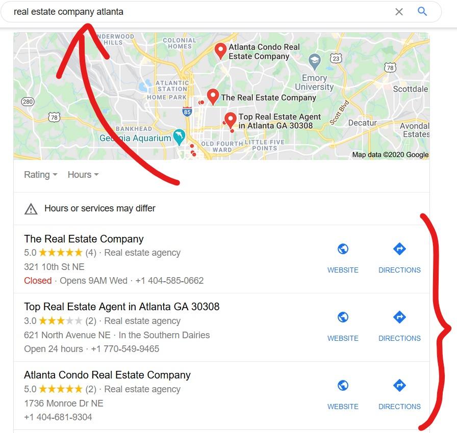Google My Business Real Estate