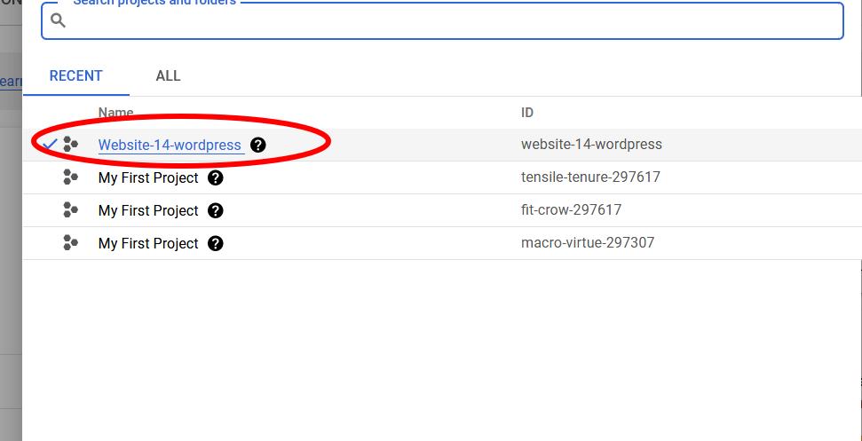 Google Cloud WordPress Project